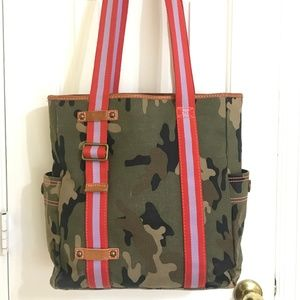 Gap Cotton Canvas Pink Army Green Camouflage LARGE